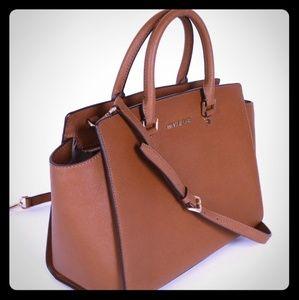 Michael Kors large saffiano leather bag